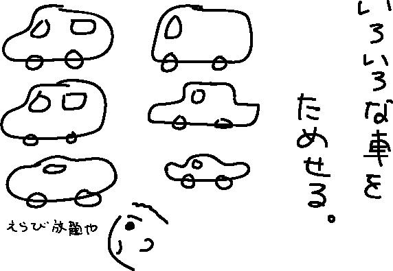カープラスはたくさんの車種から選べる